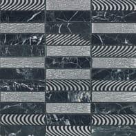 Mosaico Ardesia H 30 x L 30 cm nero e argento