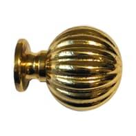 Finale per bastone Ø20mm Volga sfera in metallo lucido