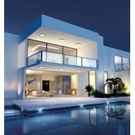 Plafoniera Smart LED integrato in alluminio, bianco, 30W 2800LM IP54 VIVIDA