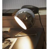 Lampada da comodino Moderno Bari Cromato opaco in metallo, INSPIRE