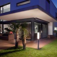 Palo della luce Gl60 led H103.8cm in acciaio inossidabile inox E27 1xMAX8.6W IP44 STEINEL