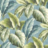 Carta da parati Foglie tropicali verde/azzurro
