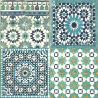 Carta da parati Mosaico blu