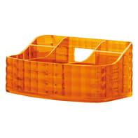 Organizer bagno Glady L 18.5 x H 7.5 cm arancione