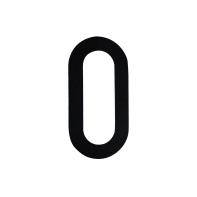 Numero 0 adesivo, 8 x 5 cm