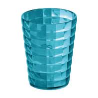 Bicchiere porta spazzolini Glady in plastica azzurro