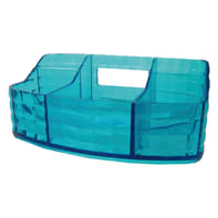 Organizer bagno Glady L 18.5 x H 7.5 cm azzurro