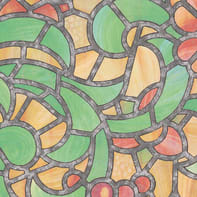 Pellicola adesiva per vetro Urbino multicolore 0.675x2 m