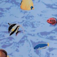 Pellicola adesiva per vetro Acquario blu 0.45x2 m
