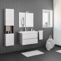 Mobile bagno Style acero bianco L 84 cm