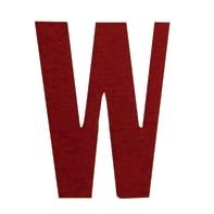 Lettera W adesivo, 10 x 6 cm