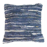 Cuscino Cuir blu 45x45 cm
