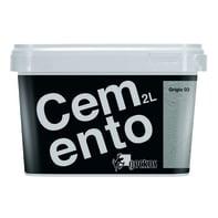 Pittura decorativa GECKOS Cemento 2 l grigio 3 effetto cemento