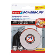 Nastro bi-adesivo TESA TAPE Powerbond ultra forte 1.5 m x 19 mm bianco