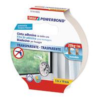 Nastro bi-adesivo TESA TAPE Powerbond trasparente 5 m x 19 mm bianco