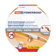 Nastro bi-adesivo TESA TAPE tesa Powerbond® Slim 10 m x 9 mm bianco