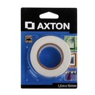 Nastro bi-adesivo AXTON 1.5 m x 19 mm bianco
