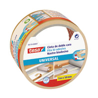 Nastro bi-adesivo TESA TAPE Biadesivo universale filmico 5 m x 50 mm bianco
