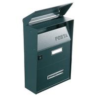 Cassetta postale ALUBOX formato Lettera, grigio / argento , L 22 x P 11 x H 32.5 cm