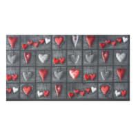 Tappeto cucina antiscivolo Full cuori patch , grigio, 55x75 cm