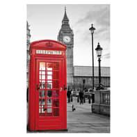 Bacheca portachiavi Big Ben 7 ganci multicolore 200 x 300 mm x 1 cm