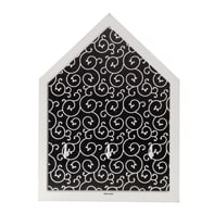 Bacheca portachiavi Arabesque Nero 4 ganci multicolore 150 x 30 mm x 20 cm