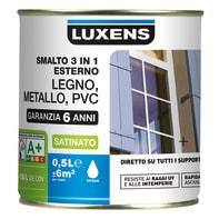 Smalto LUXENS 3 in 1 base acqua rosso 0.5 L