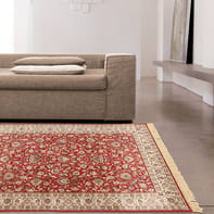 Tappeto persiano Fashian hereke 2 in viscosa, rosso, 160x230