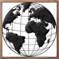 Decorazione da parete The Globe 40x40 cm