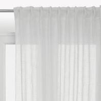 Tenda Scarlett bianco fettuccia 140x290 cm