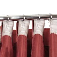 Tenda Salford rosso fettuccia con passanti nascosti 140 x 280 cm