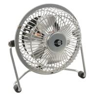 Mini ventilatore EQUATION TX-401D silver 15 W Ø 10 cm
