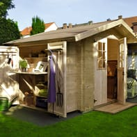 Casetta da giardino in legno Oslo,  superficie interna 4.24 m² e spessore parete 19 mm