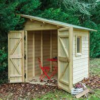 Casetta da giardino in legno Flamy,  superficie interna 3.6 m² e spessore parete 19 mm