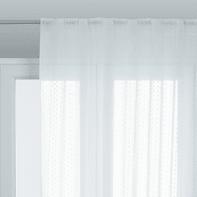 Tenda INSPIRE Livia bianco fettuccia con passanti nascosti 200 x 280 cm
