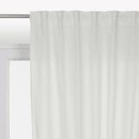 Tenda INSPIRE Polycotton bianco fettuccia e passanti 140 x 280 cm