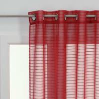 Tenda Righe orizzontali rosso occhielli 140 x 280 cm