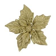 Stella di Natale con molletta dorata Ø 11.7 cm