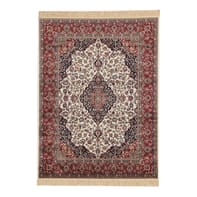 Tappeto persiano Orient farshian medallion in viscosa, rosso, 160x230