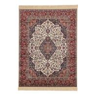 Tappeto persiano Orient farshian medallion in viscosa, rosso, 160x230 cm