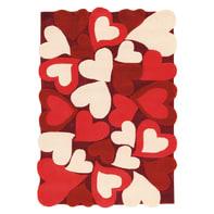 Tappeto Hearts colori assortiti 115x168 cm