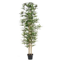 Pianta artificiale Bamboo in vaso H 200 cm