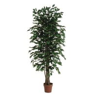Pianta artificiale Ficus in vaso H 175 cm
