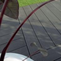 Piastrelle ad incastro in composito 15 x 120 cm Sp 36 mm,  grigio