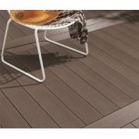 Asse da terrazzo NATERIAL in composito marrone L 120 x H 15 cm, Sp 36 mm