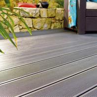 Asse da terrazzo NATERIAL Kyoto in composito grigio L 220 x H 14.5 cm, Sp 21 mm