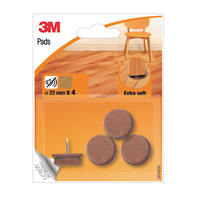 Pattino 3M SP84N30 4 pezzi Ø 22 mm