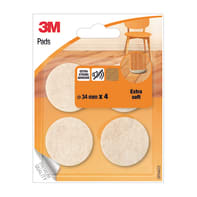 Pattino 3M SP84A22 4 pezzi Ø 34 mm