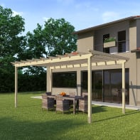 Pergola Flamingo in legno marrone L 594 x P 300 x, H 272 cm