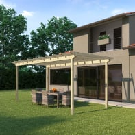 Pergola Eagle in legno marrone L 594 x P 300 , H 272 cm